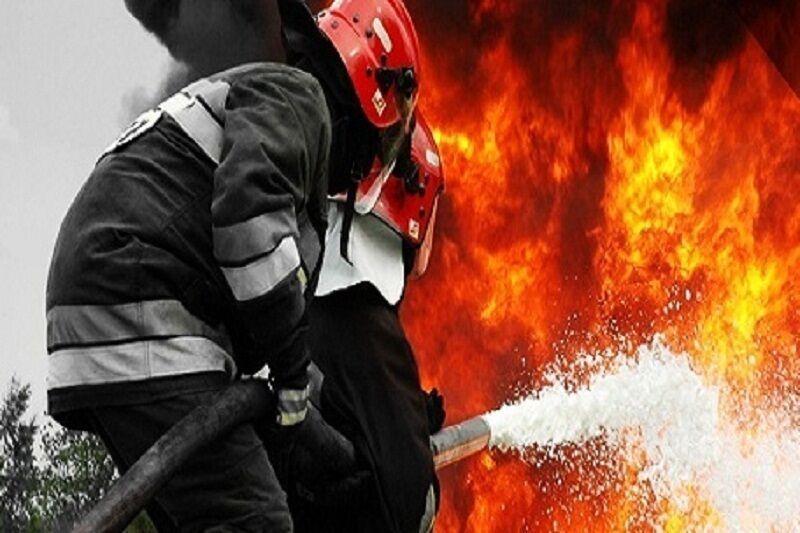 خبرنگاران آتش سوزی در دانشگاه علوم پزشکی دزفول